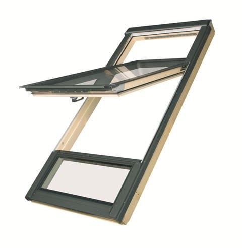 Мансардные окна с приподнятой осью поворота створки FDY-V U3 Duet proSky 3
