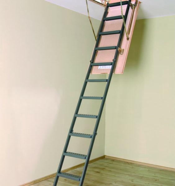 Выдвижные чердачные лестницы металлические LMS