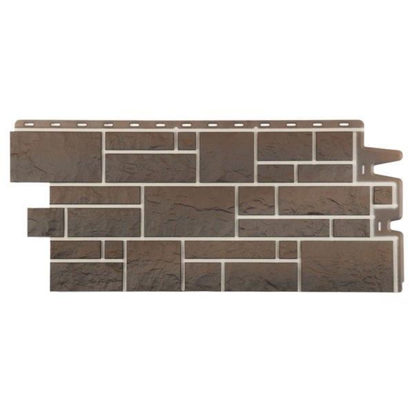 Фасадные панели под камень BURG Земляной