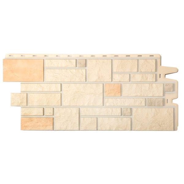 Фасадные панели под камень BURG Льняной