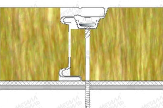Стеновая трехслойная сэндвич-панель МЕТАЛЛ ПРОФИЛЬ со скрытым креплением SECRET FIX МП ТСП-S в Тюмени